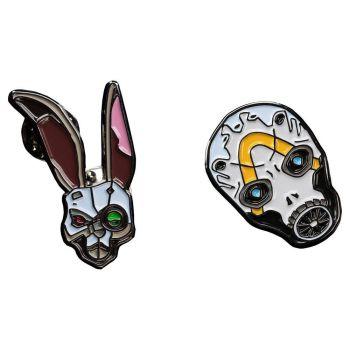 Borderlands pack 2 pin's Bunny & Psycho Mask