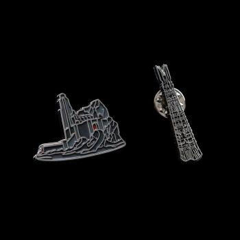 Le Seigneur des Anneaux pack 2 pin's Helm's Deep & Orthanc