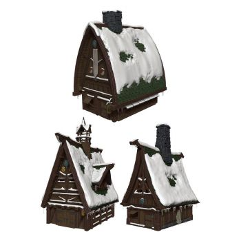 D&D Icons of the Realms Icewind Dale : Rime of the Frostmaiden set Papercraft Ten Towns