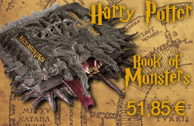 Coussin harry potter book of monsters peluche