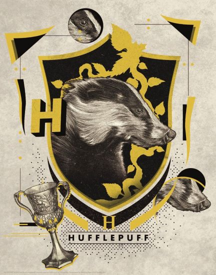 Harry Potter lithographie Hufflepuff 36 x 28 cm