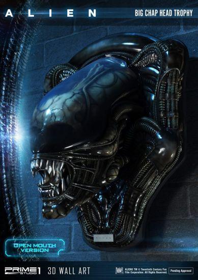 Alien plaque murale 3D Warrior Alien Head Trophy Open Mouth Version 58 cm