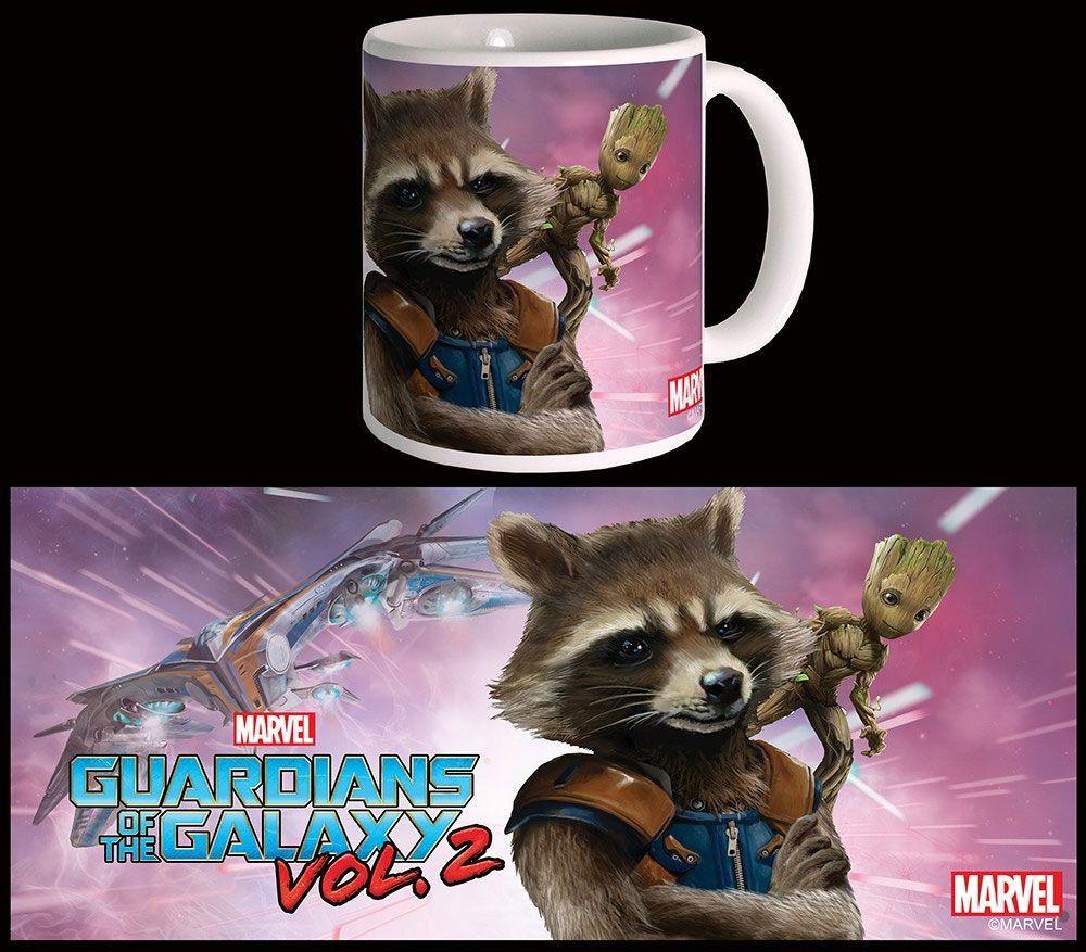 MARVEL gardien de la Galaxie Raccoon Rocket tête en forme de 3D Mug