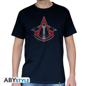 ASSASSIN'S CREED - Tshirt -AC5 - Arbalète- homme MC navy - basic