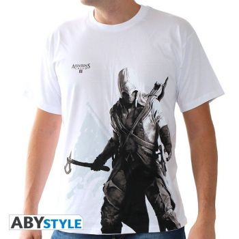 ASSASSIN'S CREED - Tshirt -Connor debout- homme MC white - basic