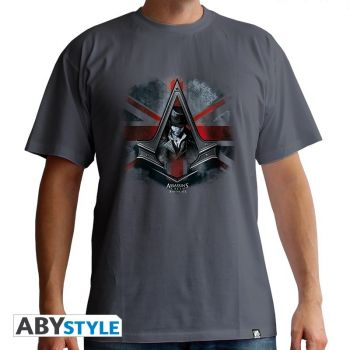 ASSASSIN'S CREED - Tshirt -Jacob & Flag- homme MC dark grey - basic