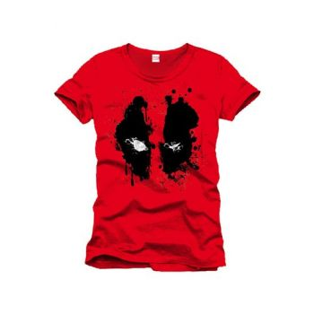 Deadpool T-Shirt Splash Head - S - DESTOCK