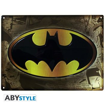 DC COMICS - Plaque métal -Batman- (28x38)