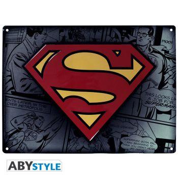 DC COMICS - Plaque métal -Superman- (28x38)