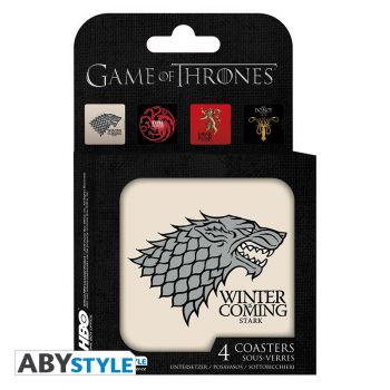 GAME OF THRONES - Set 4 Dessous de verre -Maisons-