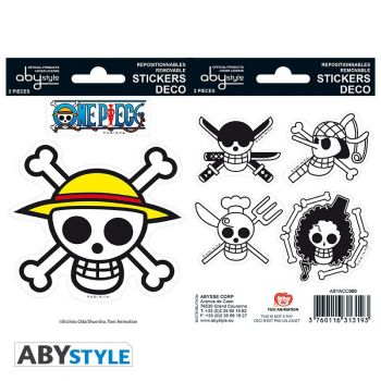 ONE PIECE - Stickers - 16x11cm/ 2 planches - Pirates Flag