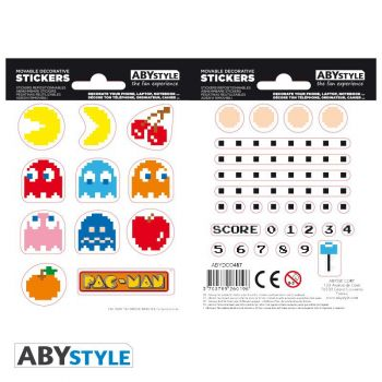 PAC-MAN - Stickers - 16x11cm/ 2 planches - Labyrinthe