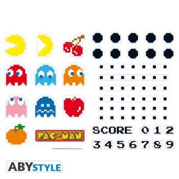 PAC-MAN - Stickers - 50x70cm - Personnages et Labyrinthe