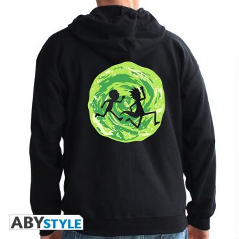 RICK AND MORTY- Sweat - -Portail- homme black