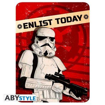 STAR WARS - Plaque métal -Enlist today- (28x38)