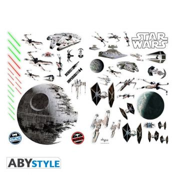 STAR WARS - Stickers - 100x70cm - Bataille Spaciale (blister)