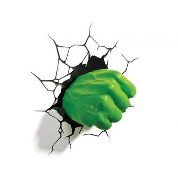Marvel lampe 3D LED Hulk Fist --- EMBALLAGE ENDOMMAGE
