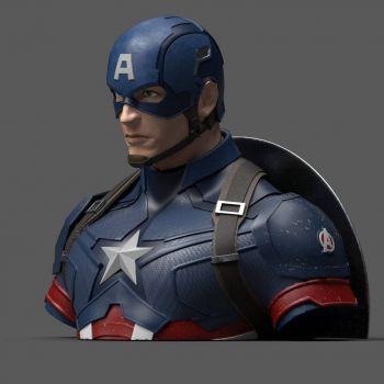 Avengers Endgame buste / tirelire Captain America 20 cm --- EMBALLAGE ENDOMMAGE