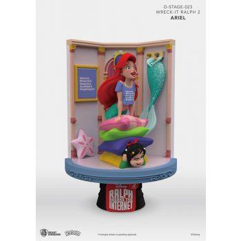 Ralph 2.0 diorama PVC D-Stage Ariel & Vanellope 15 cm