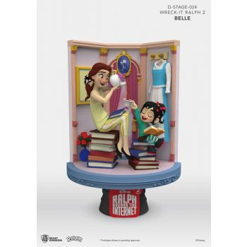 Ralph 2.0 diorama PVC D-Stage Belle & Vanellope 15 cm