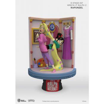 Ralph 2.0 diorama PVC D-Stage Rapunzel & Vanellope 15 cm