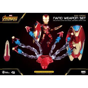 Avengers Infinity War Egg Attack accessoires pour figurine Iron Man Mark 50 Nano Weapon Set