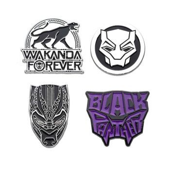 Marvel pack 4 badges Black Panther