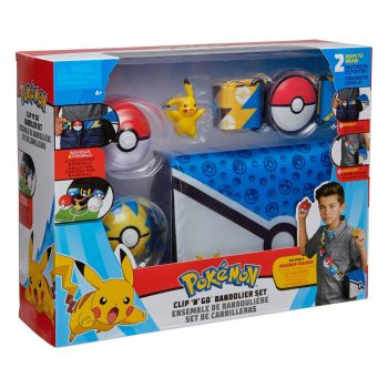 Pokémon ensemble de bandoulière Pokéball Clip 'N' Go Pikachu