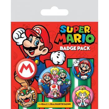 Super Mario pack 5 badges