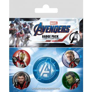 Avengers : Endgame pack 5 badges Quantum Realm Suits