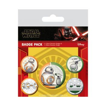 Star Wars Episode IX pack 5 badges Droids