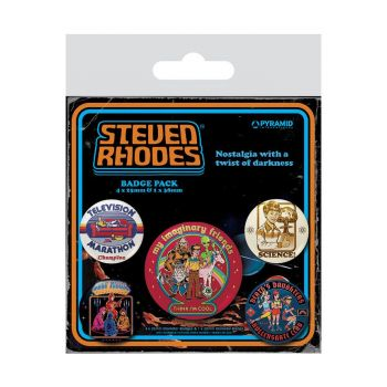 Steven Rhodes pack 5 badges Collection