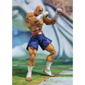 Street Fighter figurine S.H. Figuarts Sagat Tamashii Web Exclusive 17 cm --- EMBALLAGE ENDOMMAGE