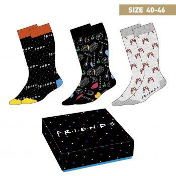 Friends pack 3 paires de chaussettes Symbols 40-46
