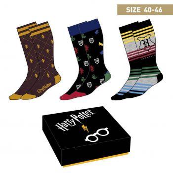 Harry Potter pack 3 paires de chaussettes Crests 40-46