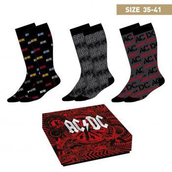 ACDC pack 3 paires de chaussettes High Voltage 35-41
