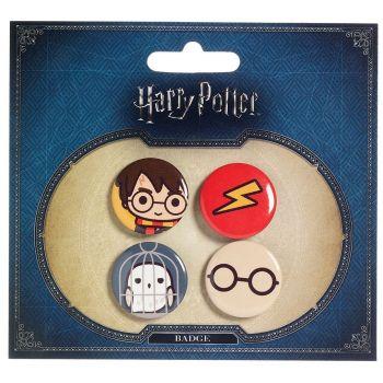 Harry Potter pack 4 badges Cutie Harry Potter & Hedwig