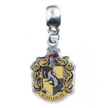Harry Potter breloque plaquée argent Hufflepuff Crest