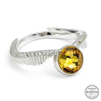 Harry Potter x Swarovski anneau Vif d'or taille-UK O (argent sterling)