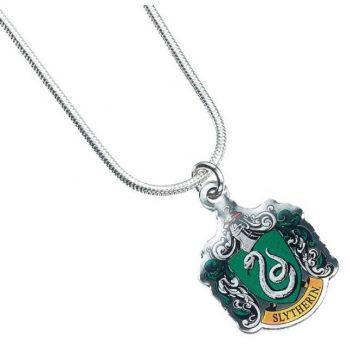 Harry Potter pendentif et collier plaqués argent Slytherin