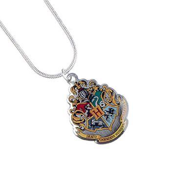 Harry Potter pendentif et collier plaqués argent Hogwarts