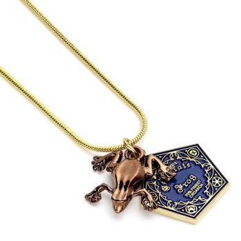 Harry Potter pendentif et collier plaqués or Chocogrenouille