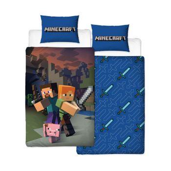 Minecraft parure de lit réversible Good Guys 135 x 200 cm / 48 x 74 cm