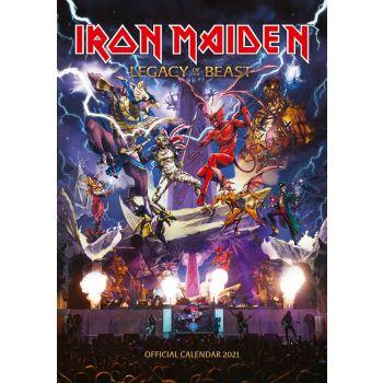 Iron Maiden calendrier A3 2021 *ANGLAIS*
