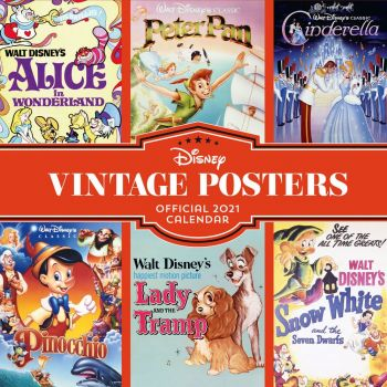 Disney Vintage Posters calendrier 2021 *ANGLAIS*