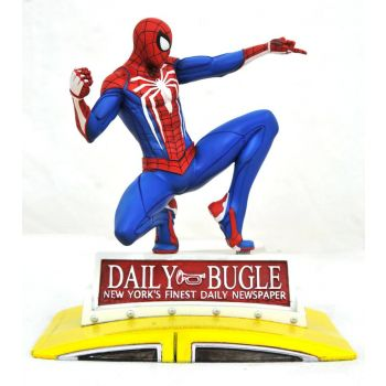 Marvel Gallery diorama PS4 Spider-Man on Taxi 23 cm --- EMBALLAGE ENDOMMAGE