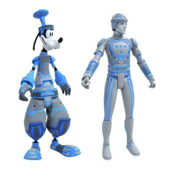 Kingdom Hearts Select pack 2 figurines Goofy & Tron 18 cm