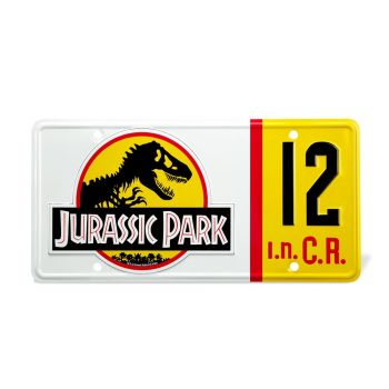 Jurassic Park réplique 1/1 plaque minéralogique Dennis Nedry