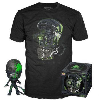 Alien POP! & Tee set figurine et T-Shirt 40th Xenomorph heo Exclusive