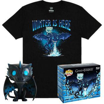 Game of Thrones POP! & Tee set figurine et T-Shirt Icy Viserion heo Exclusive